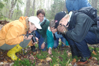 group photographing something interesting, Altberg Wildlife Sanctuary Nature Reserve