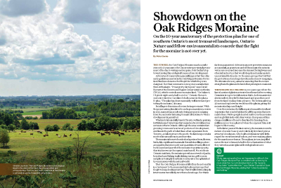 Showdown on the Oak Ridges Moraine