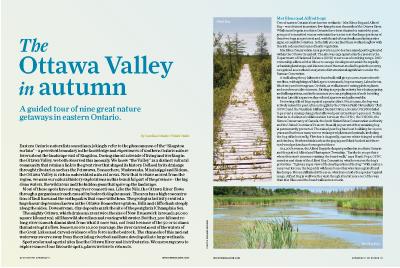 The Ottawa Valley in autumn