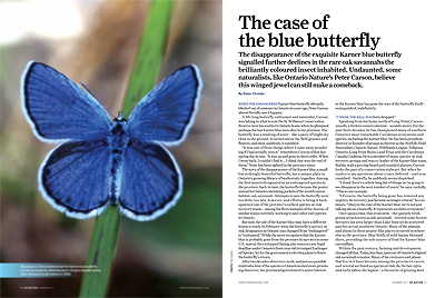 The case of the blue butterfly - ON Nature Magazine