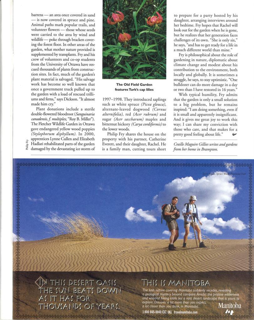 Rescuing plants Fry's philosophy Seasons Fall 2001