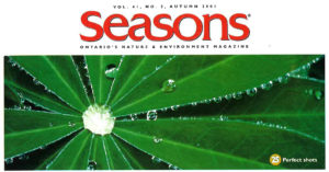 Seasons Autumn 2001 Table of Contents