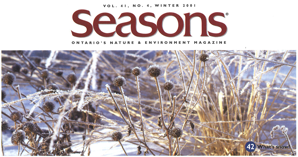 Seasons Winter 2001 Contents