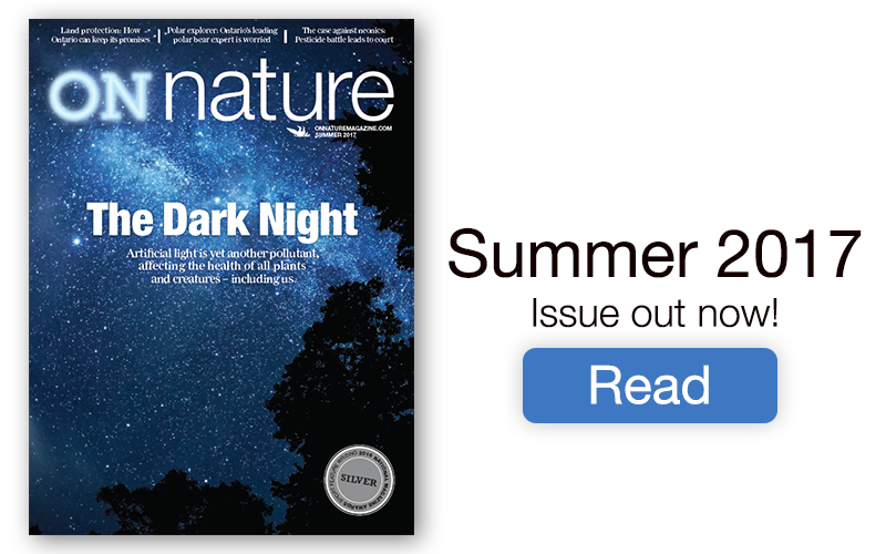 Cover of the current issue of ON Nature Magazine