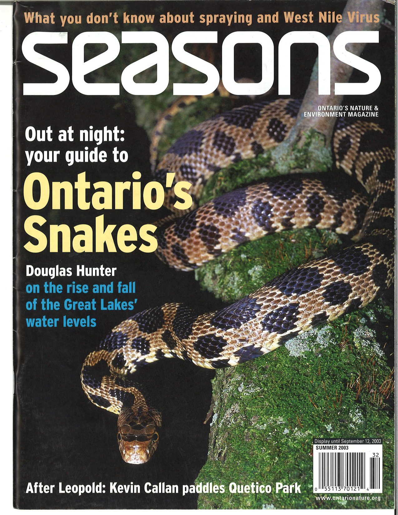 Seasons Summer 2003 Front Cover