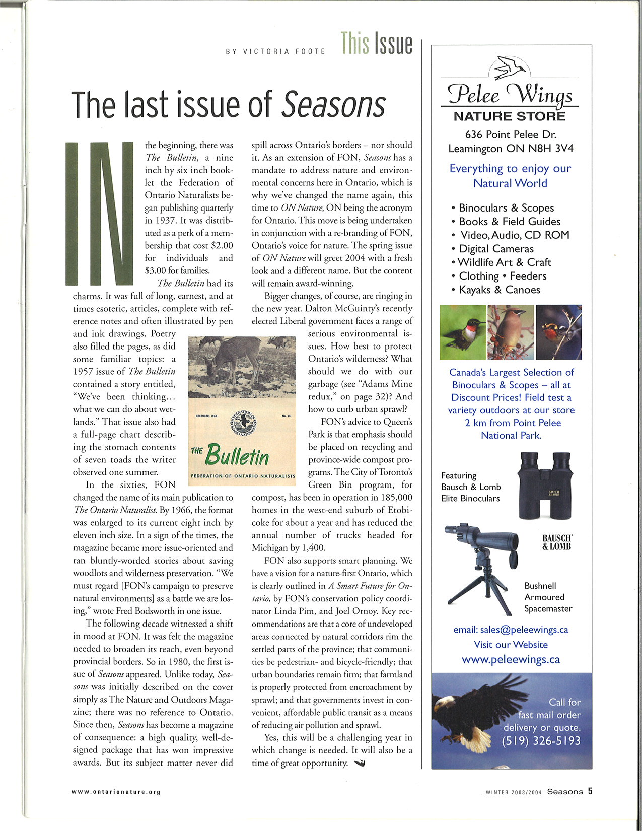 The Last Issue of Seasons