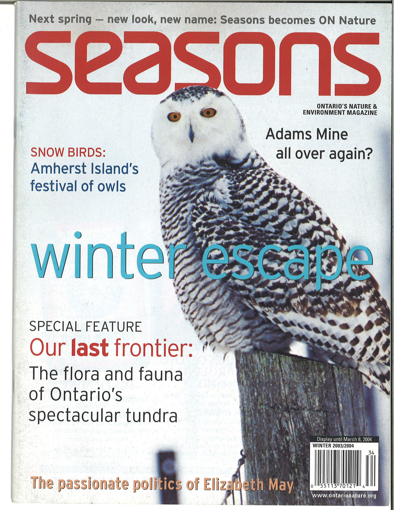 Seasons Winter 2003 Front Cover