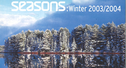 Seasons Winter 2003 Table of Contents