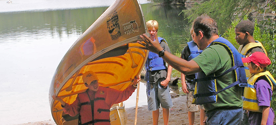Learning to portage group of young people