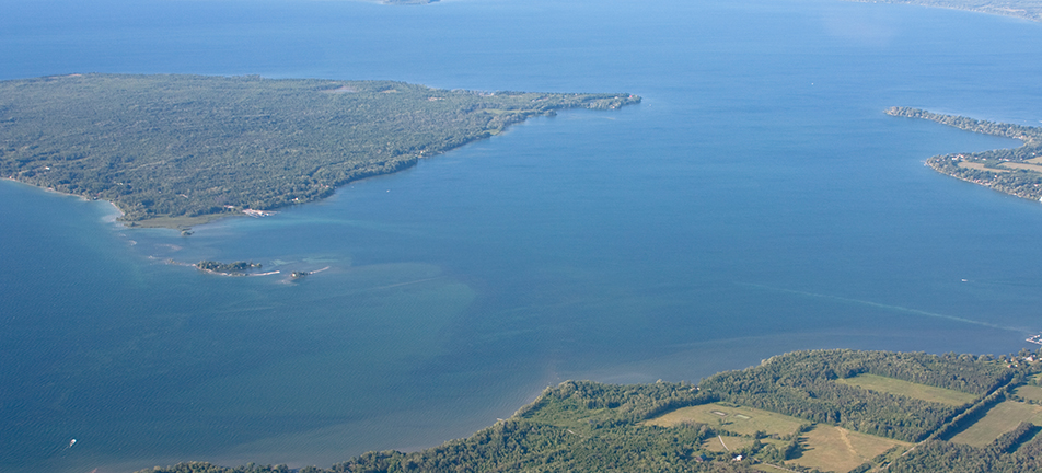 Lake Simcoe, Georgina Island and southwestern shore