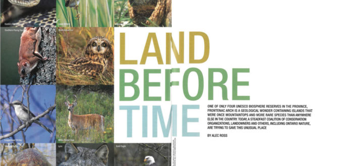 Land Before Time feature article ON Nature Magazine Spread