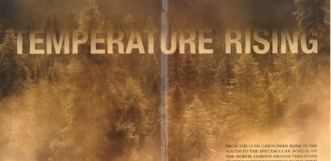 Temperature Rising Spread -- ON Nature Magazine feature