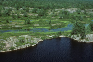 Long Lake aerial north, Swift Rapids Road area