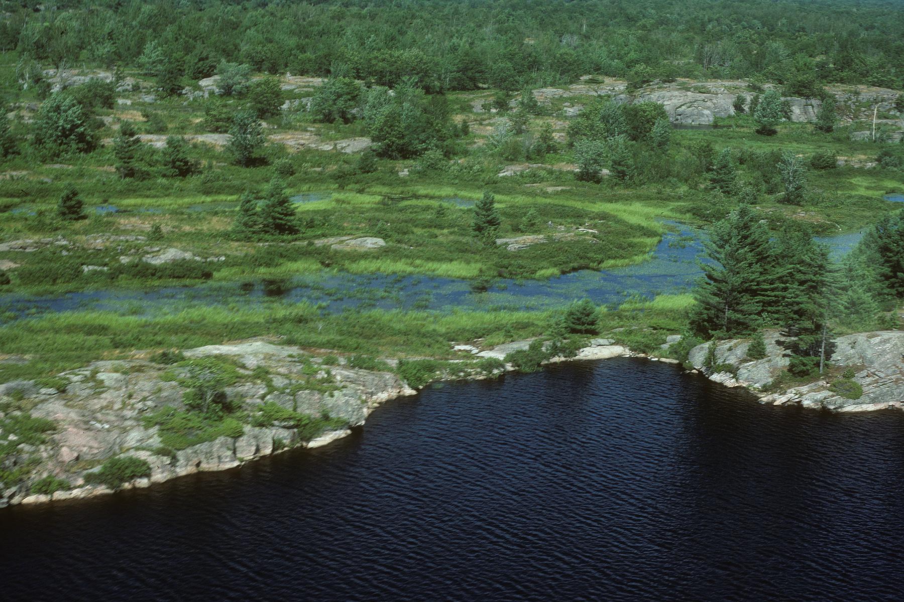 Long Lake aerial north, Swift Rapids Road area