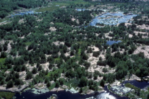 Long Lake aerial south, Swift Rapids Road area