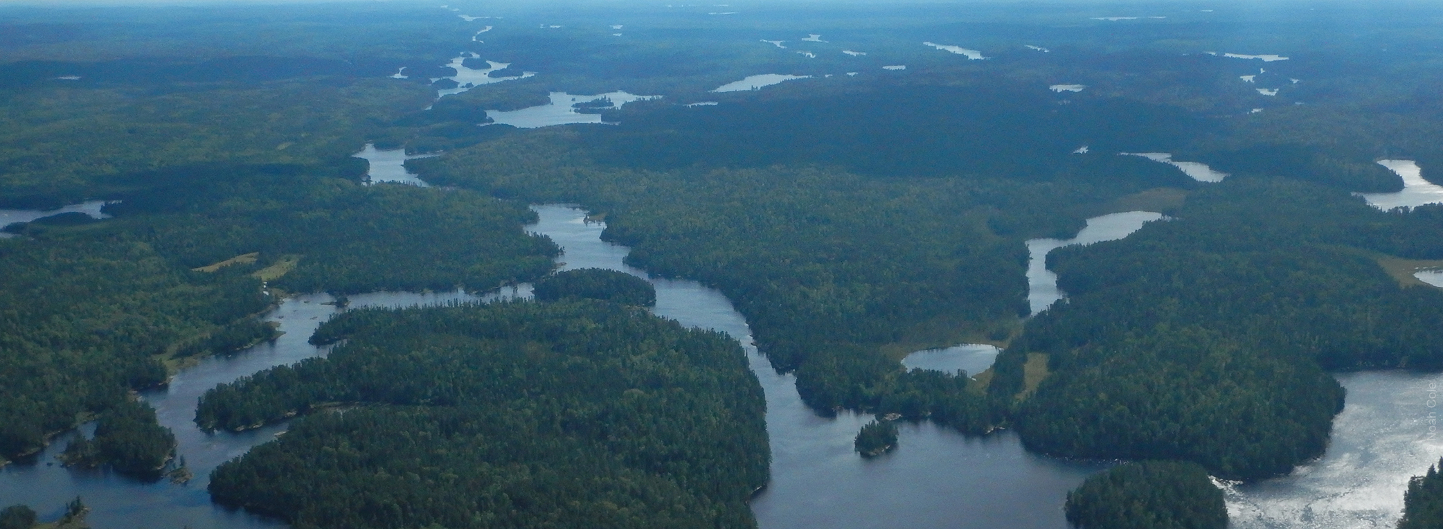 Quetico Provincial Park lakes, rivers, boreal forest and Arctic watershed