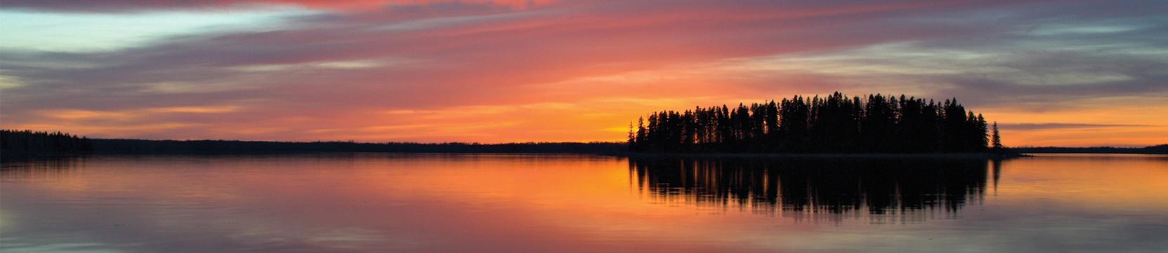 Algonquin Island sunset